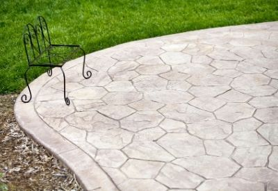 A stamped concrete patio in Beaumont, TX