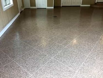 A refinished concrete floor inside of a home in Beaumont, TX.